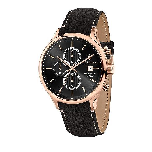 Maserati Reloj Analógico para Hombre de Cuarzo con Correa en Cuero R8871636003: Amazon.es: Relojes