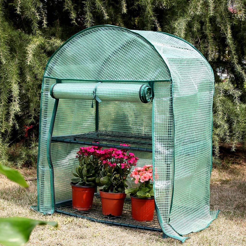 ガーデン温室2階内外ハーブフラワーガーデンバルコニーサイズ69 * 49 * 95cm B07K892ZWV