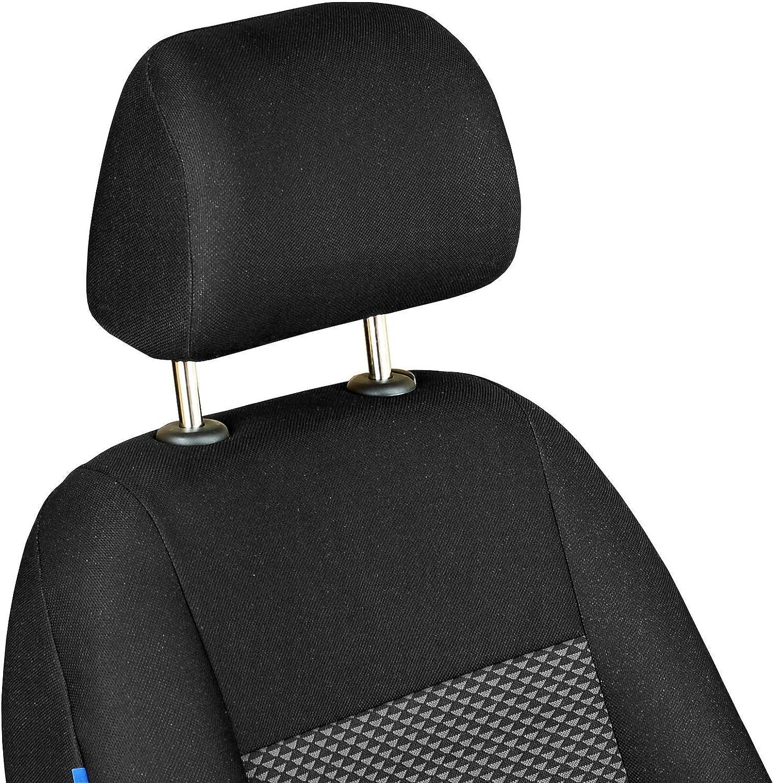 Farbe Premium Schwarz-graue Dreiecke Optimum Zakschneider Vitara Vorne Sitzbez/üge f/ür Fahrer und Beifahrer