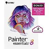 Corel Painter Essentials 8 | Beginner Digital Painting Software | Amazon Exclusive Brush Pack Bundle [PC Download]