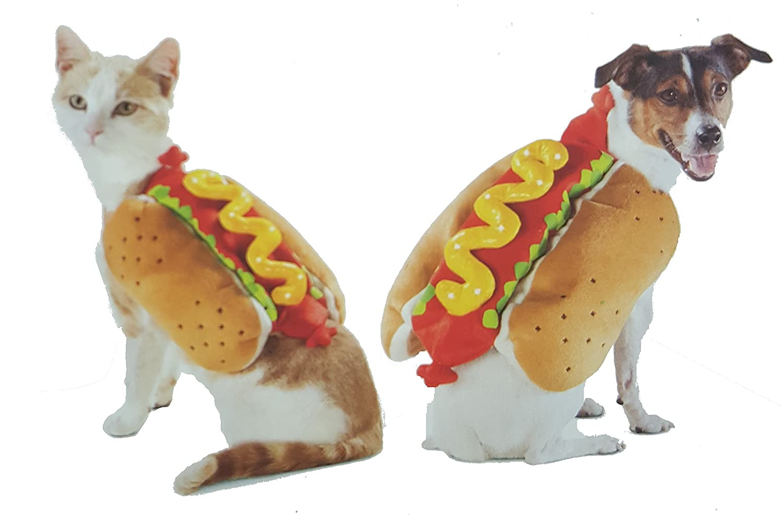 LED HOT DOG PET COSTUME SMALL