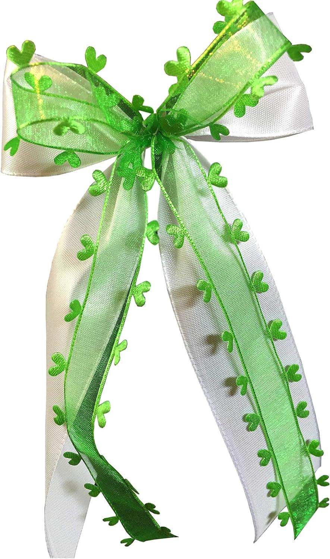 10 Antennenschleifen Autoschleife Autoschmuck Hochzeit SCH0096 grün
