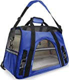 "Paws & Pals Airline Approved Pet Carriers w/ Fleece Bed For Dog & Cat - Soft Sided Kennel - 2018 Newly Designed, Small 17""x8""x11.5"" Inches"
