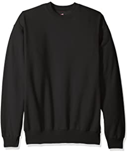 Hanes Men's Ecosmart Fleece Sweatshirt, Black, Medium
