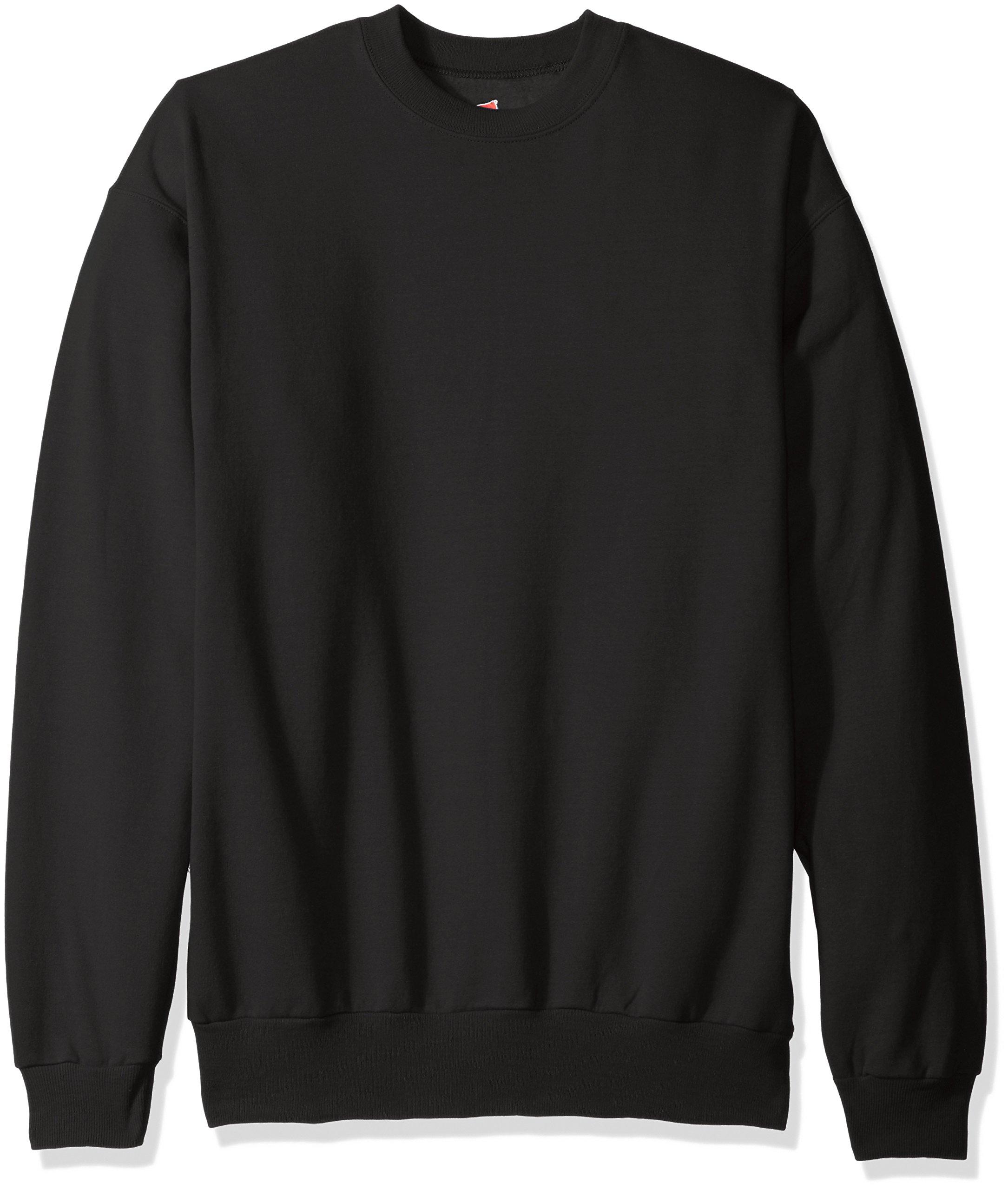 Hanes Men's EcoSmart Fleece Sweatshirt,Black,2 XL