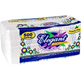 Stock Your Home 12 Inch Disposable Napkins - 1 Ply White Dinner Napkins - Recyclable Paper Napkins for Dinner, Parties, Craft
