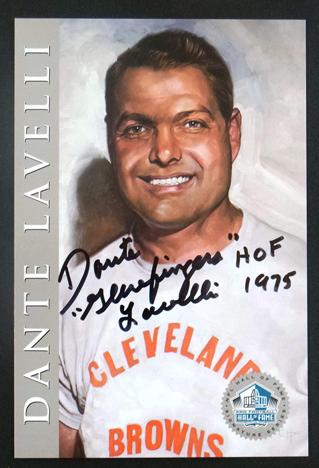 B00AIYUJOK PRO FOOTBALL HALL OF FAME Dante Lavelli 1998 Platinum Signature Series NFL Cleveland Browns HOF Signed Autograph Limited Edition Card 81aIrUmUpAL