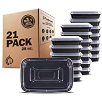 Freshware Meal Prep [21 Pack] Lids Food Storage Containers, Lunch BPA Free   Stackable   Bento Box, Microwave/Dishwasher…