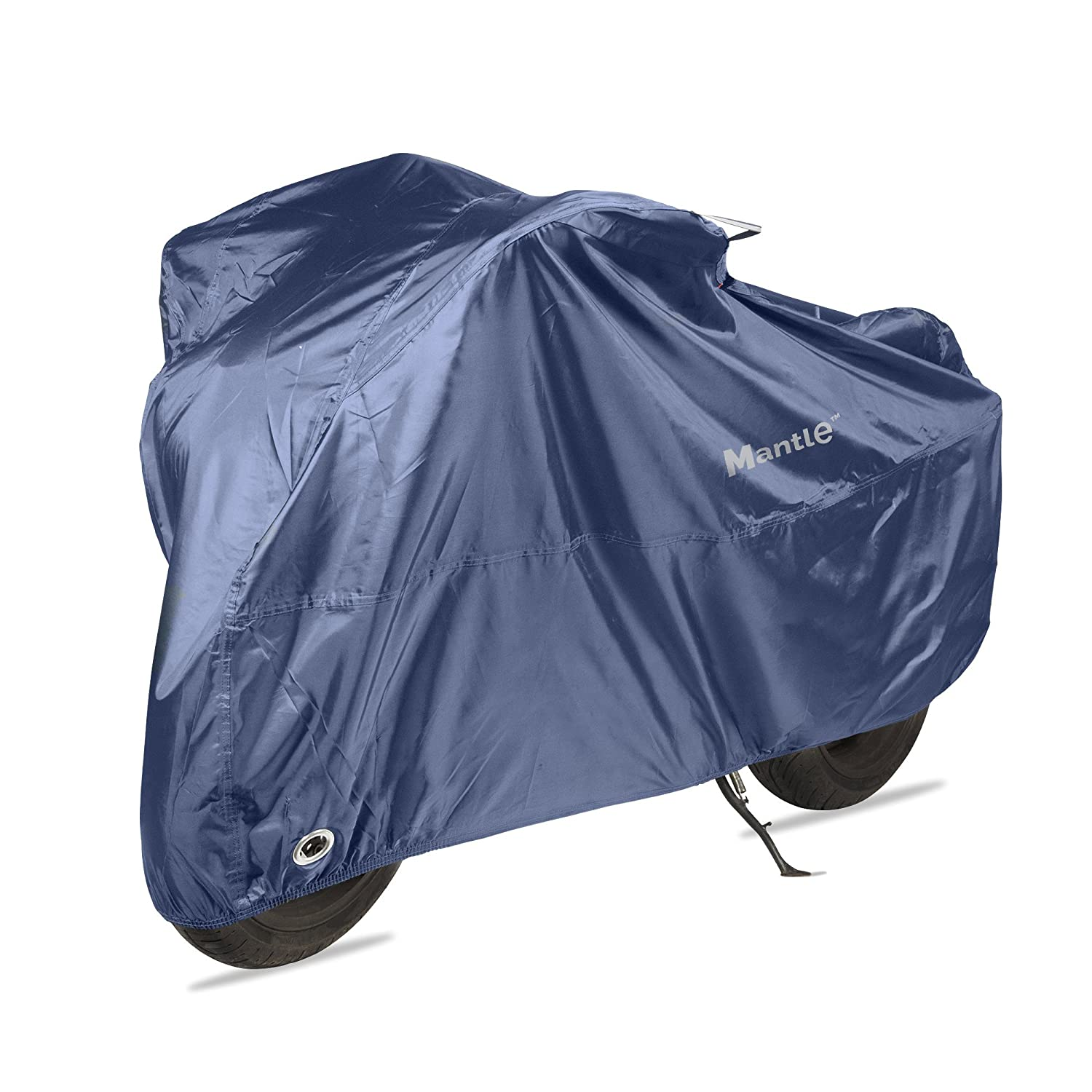 Waterproof Motorbike Cover for Outside Storage, Mantle Heavy duty Motorcycle Rain Covers, 210D Oxford Fabric - Dust, Rust & UV Protection, Air Vents, Wind Buckle, Lock Holes, Silver coat (XL)