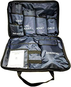 5 Cuffs Blood Pressure Aneroid Sphygmomanometer Cuff System (Blue)