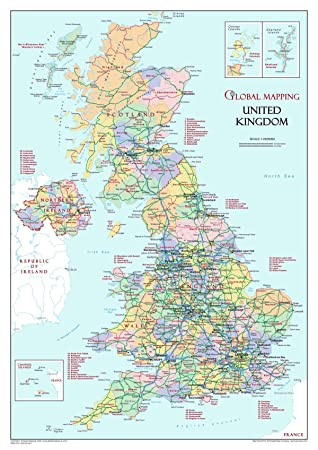 United kingdom political small 12525m paper a3 desktop map united kingdom political small 12525m paper a3 desktop map gumiabroncs Choice Image