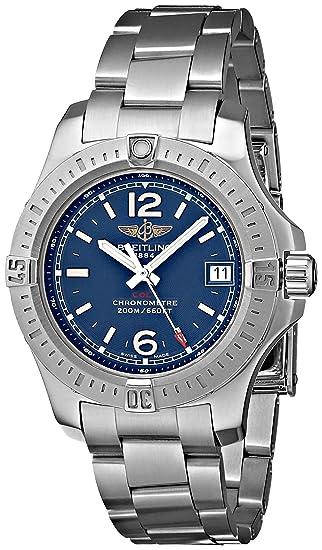 Breitling de hombre bta7738811-c908ss Colt Lady analógico reloj de cuarzo, Plata