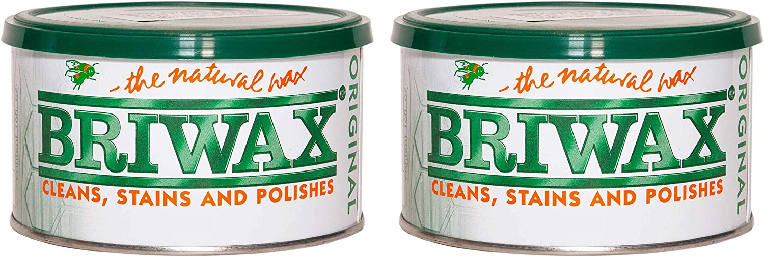 Briwax Darkbrown Brown Dark Furniture Wax, Cleans, Stains, and Polishes (Тwo Рack)