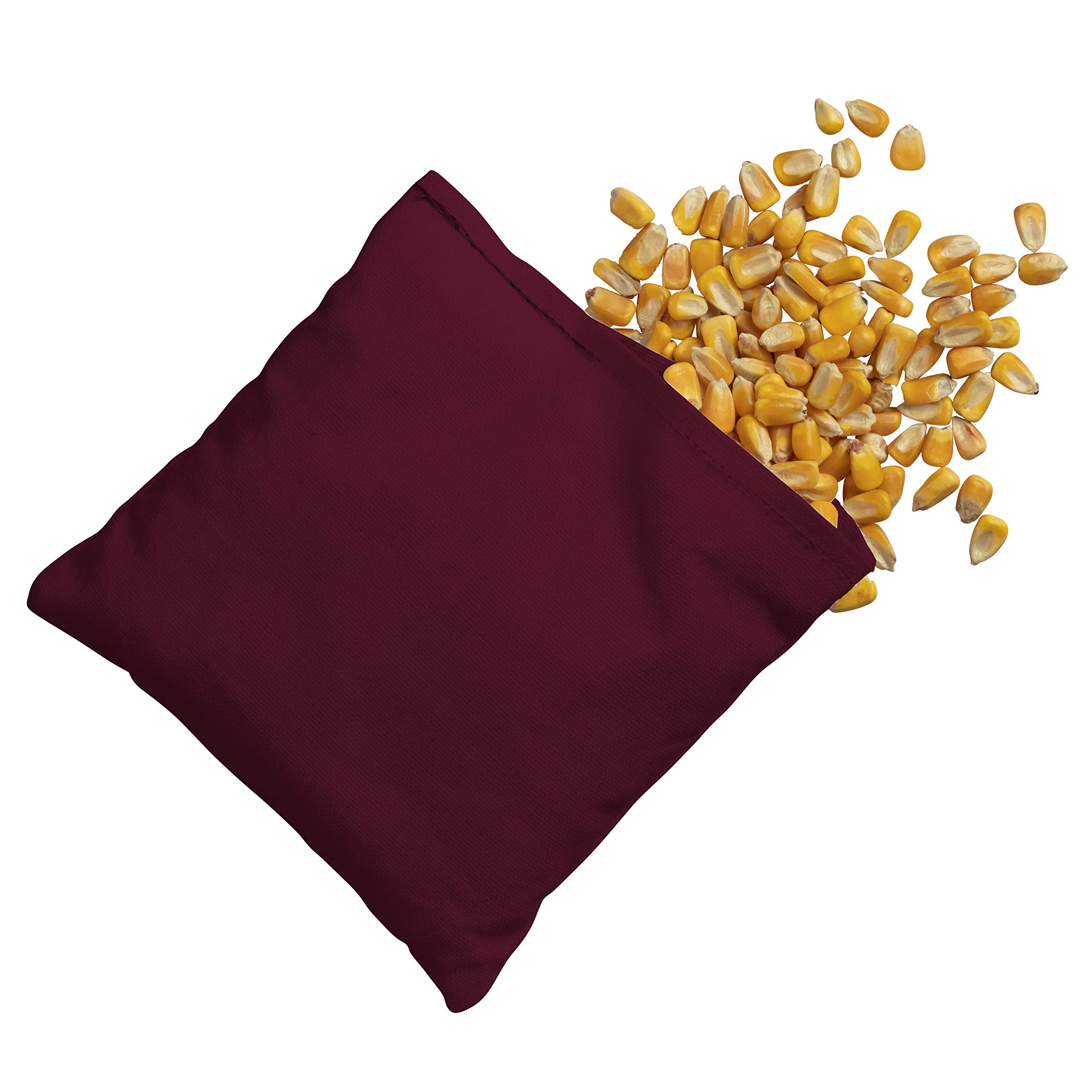 Victory Tailgate 8 Colored Corn Filled Regulation Cornhole Bags with Drawstring Pack (4 Burgundy, 4 White) by Victory Tailgate (Image #3)