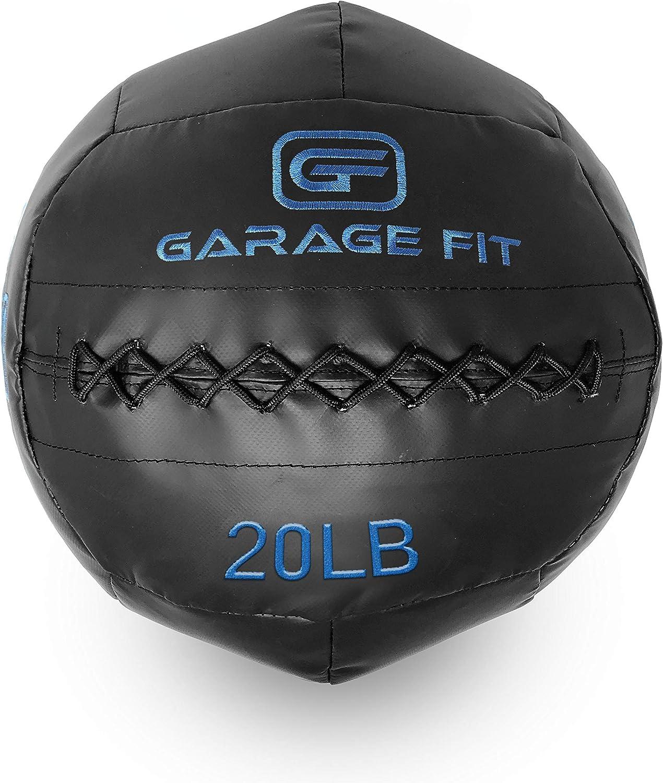 Garage Fit Wall Ball WallBalls Soft Medicine Balls Wall Balls – 4, 6, 8, 10, 12, 14, 16, 18, 20, 25, 30 and 40Lbs – 1.8, 2.7, 3.6, 4.5, 5.5, 6.4, 7.3, 8.2, 9.1, 11.3, and 13.6 kg