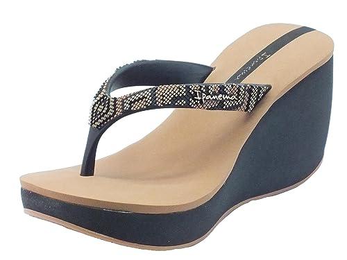 Ipanema 81936 Lipstck Bolero Fem Black/Brown - Sandalias de goma para mujer negro Size: 39 SK5QO