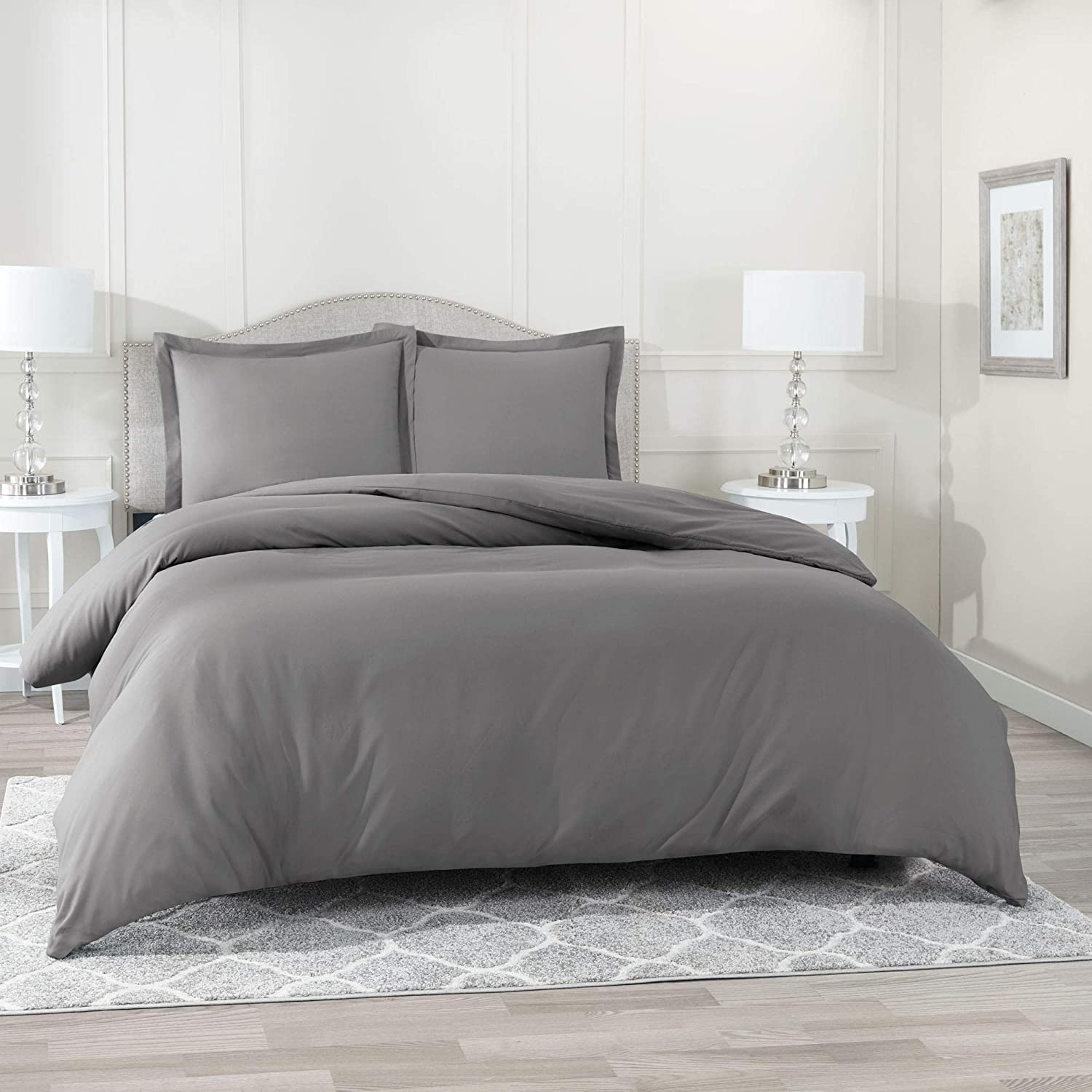Nestl Bedding Duvet Cover 3 Piece Set – Ultra Soft Double Brushed Microfiber Hotel Collection