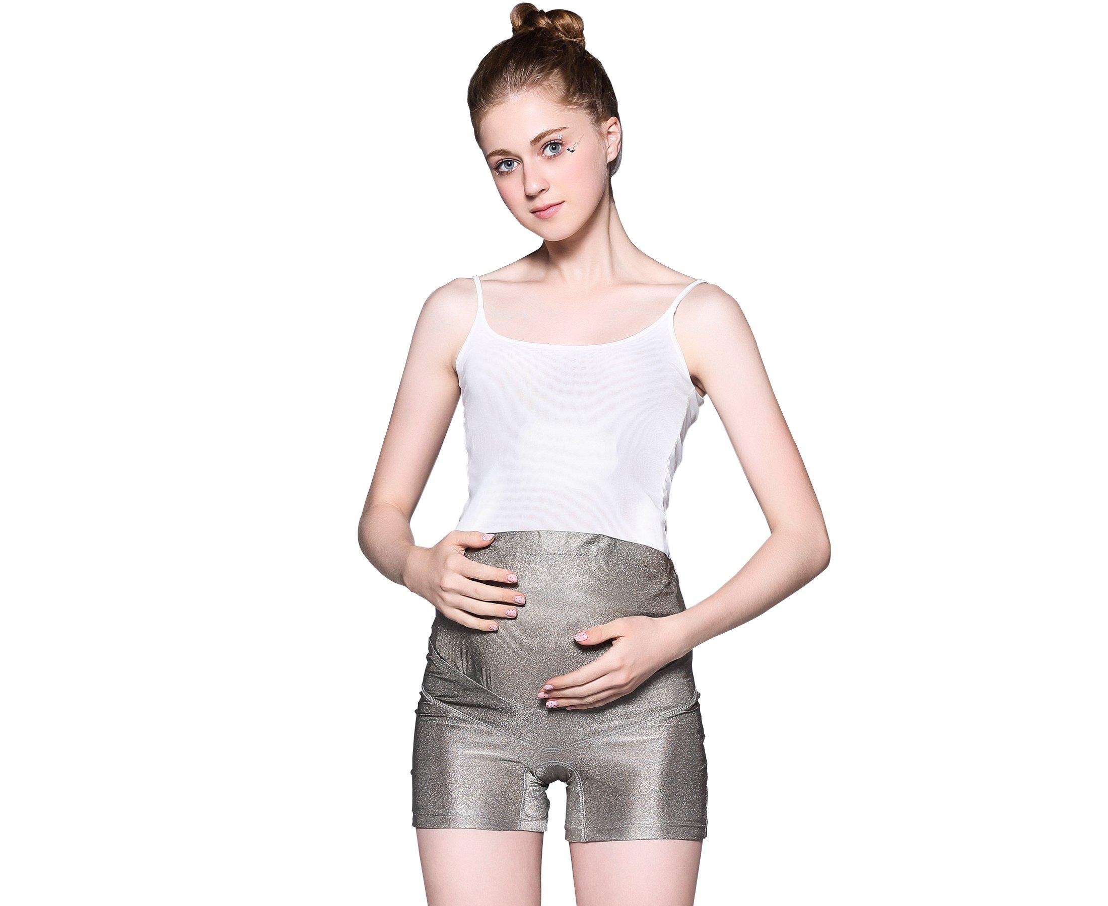 LVFEIER Anti Radiation Maternity Shorts (X-Large) Silver by LVFEIER