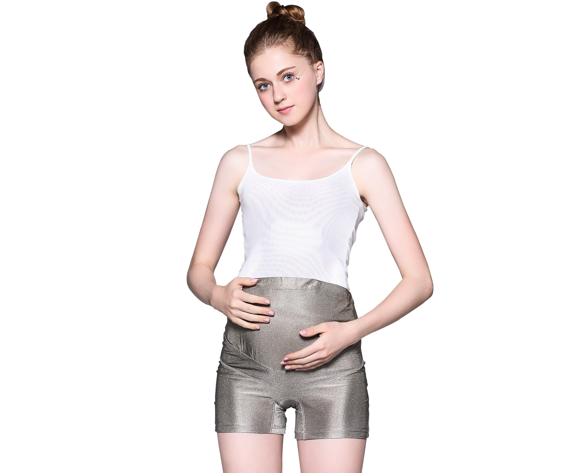 LVFEIER Anti Radiation Maternity Shorts (X-Large) Silver