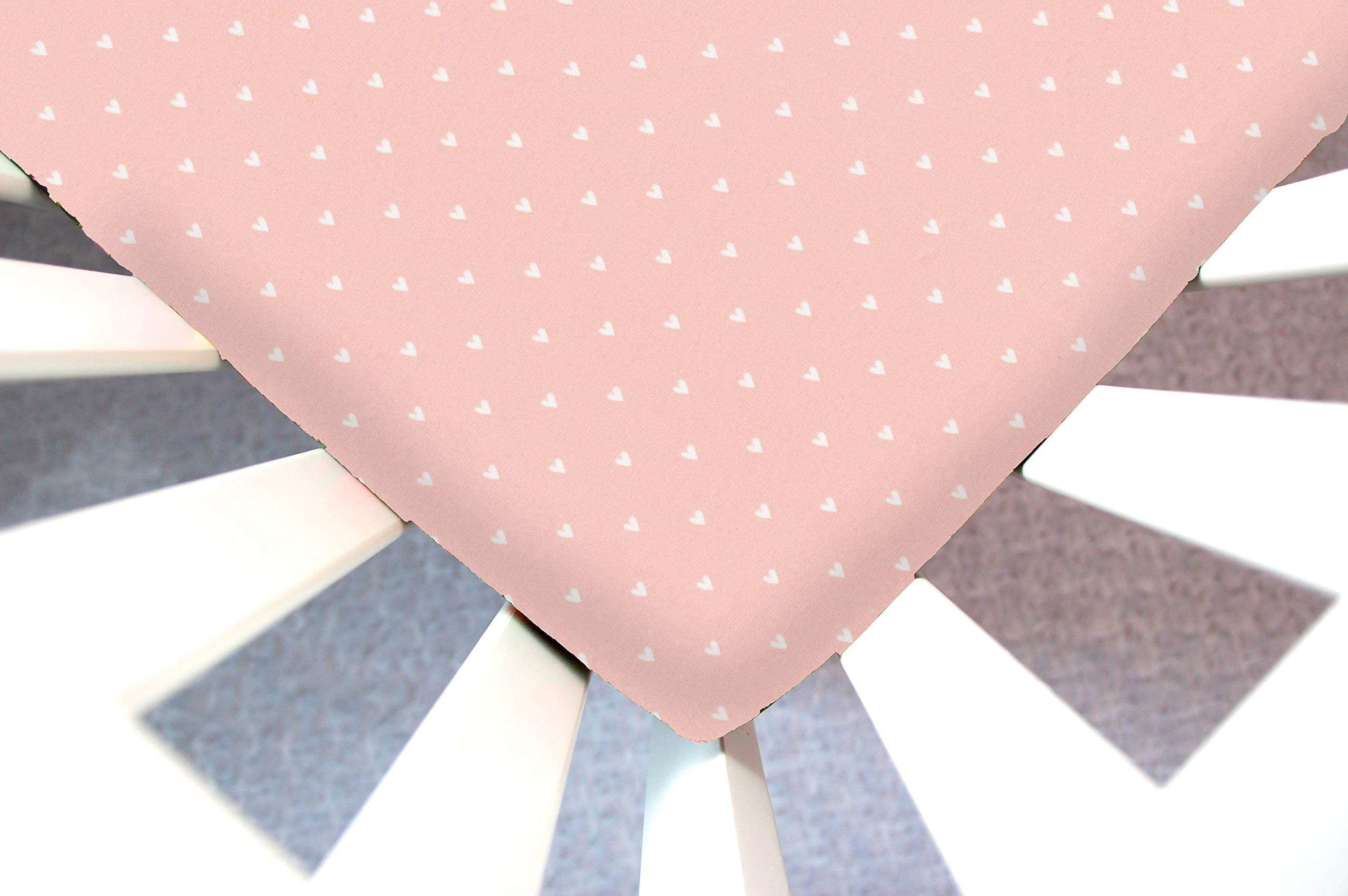 Little Moose by Liza Handmade Sheet Made to Fit Nuna Sena Play Yard in Organic Pink Hearts This Sheet was Not Created or Sold by Nuna Sena by Little Moose By Liza LLC