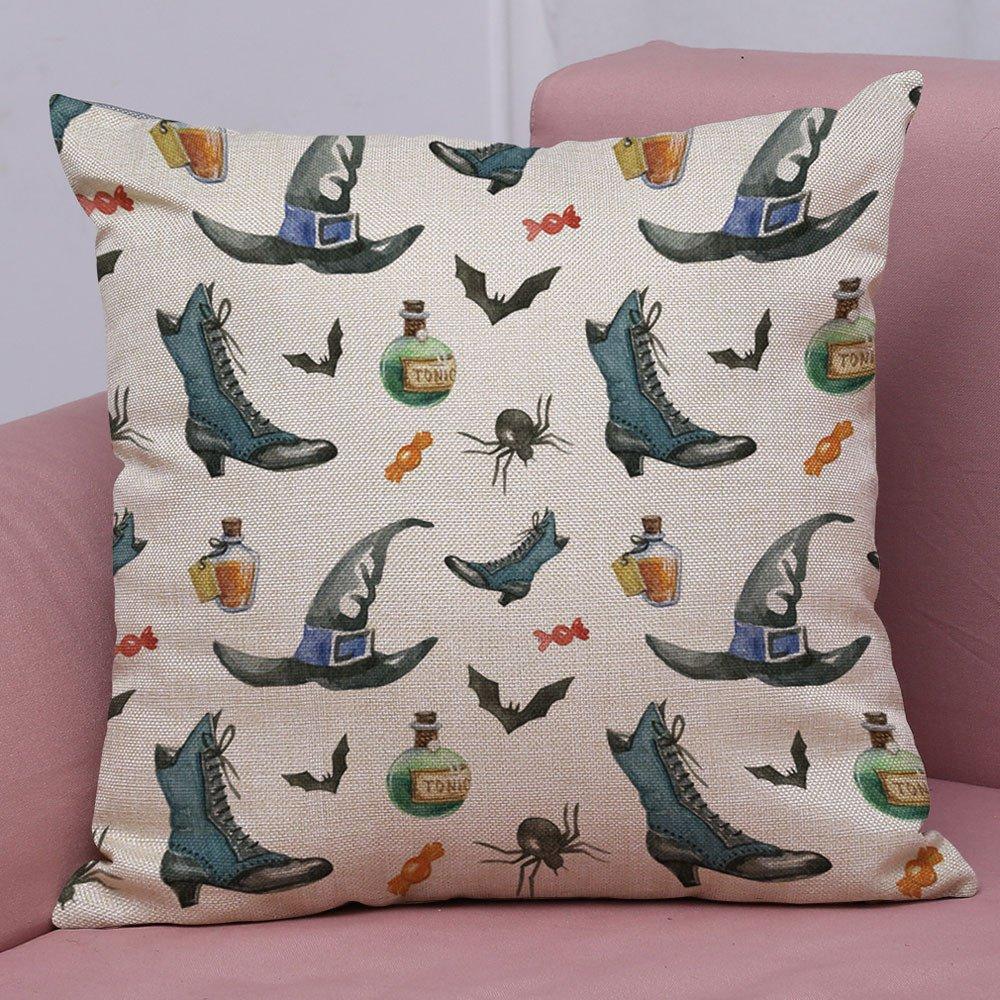 Funda de Almohada con Estampado Halloween Chica Dormitorio ...