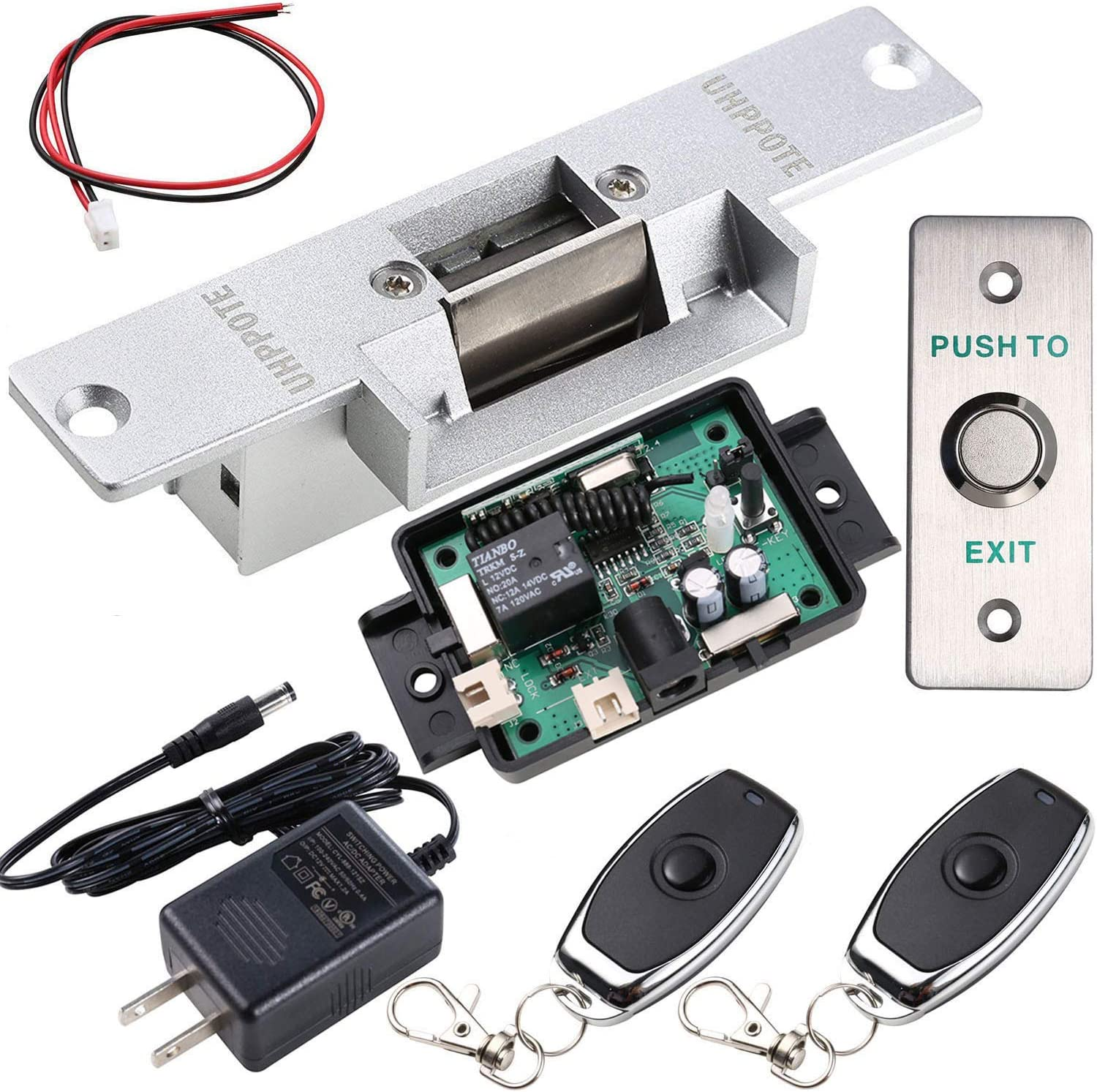 UHPPOTE Door Access Control Kit with Electric Strike Lock Remote Control