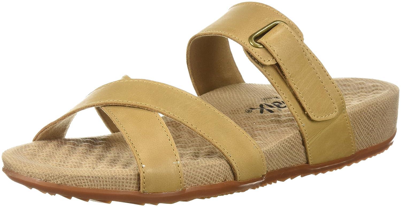 SoftWalk Womens Brimley Open Toe Casual Leather Flat Sandals B073BQHTKC 12.0 W US|タン タン 12.0 W US