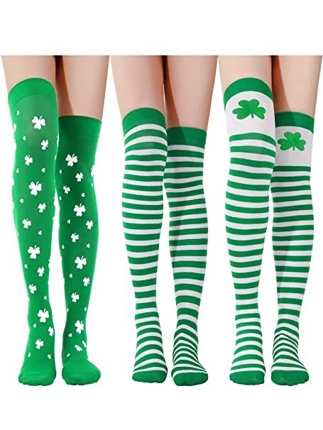 One Size Girls Womens Celtic Tree Of Life Over Knee Thigh High Stockings Fashion Socks