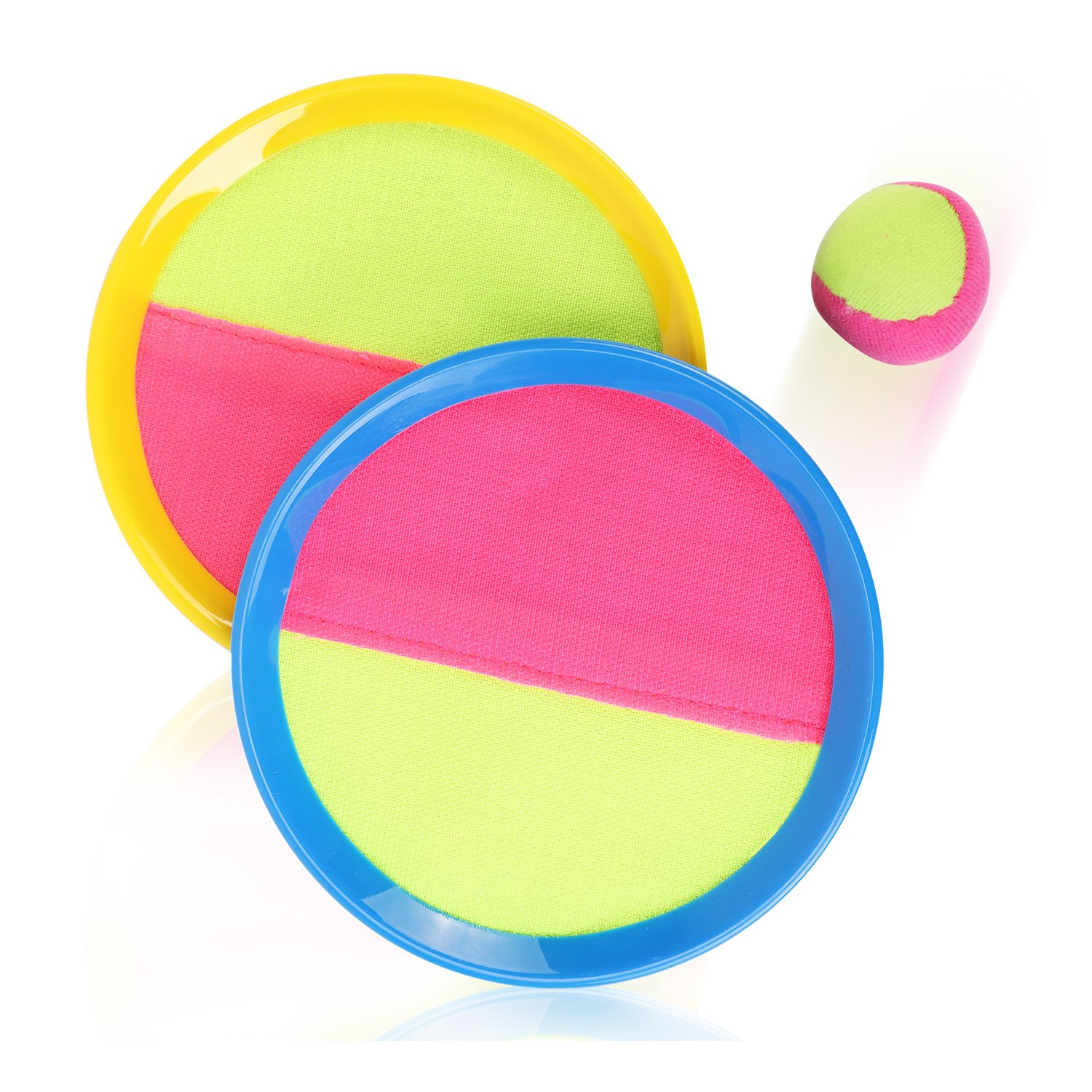Liberty Imports Classic Self-Stick Toss and Catch Target Sports Game Set for Kids with Bean Bag Ball