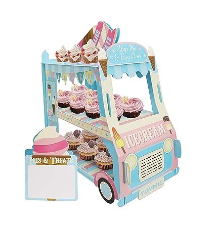 KAPOKKU - Soporte de 3 niveles para cupcakes, helado ...