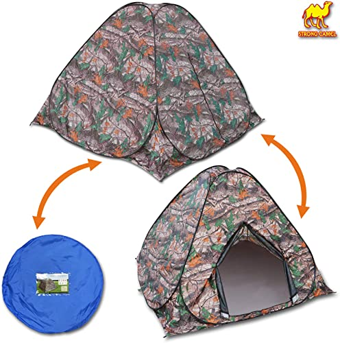 Strong Camel Portable Camouflage Camping Hiking Instant Tent pop up 2 3 Persons Mosquito Prevention Waterproof