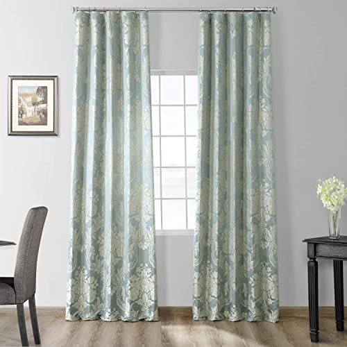 HPD Half Price Drapes JQCH-20122053-120 Designer Damask Curtain 1 Panel