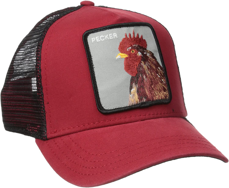 Men/'s Animal Farm Snap Back Trucker Hat Navy Rooster Goorin Bros One Size