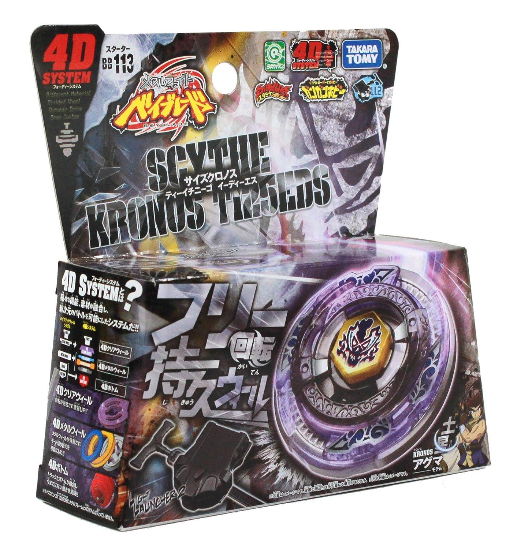 Beyblades #BB113 JAPANESE Metal Fusion Starter Set Scythe Khronos T125EDS 4D