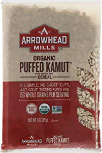 Arrowhead Mills Organic Cereal, Puffed Kamut, 6 Ounce (Pack of 12)