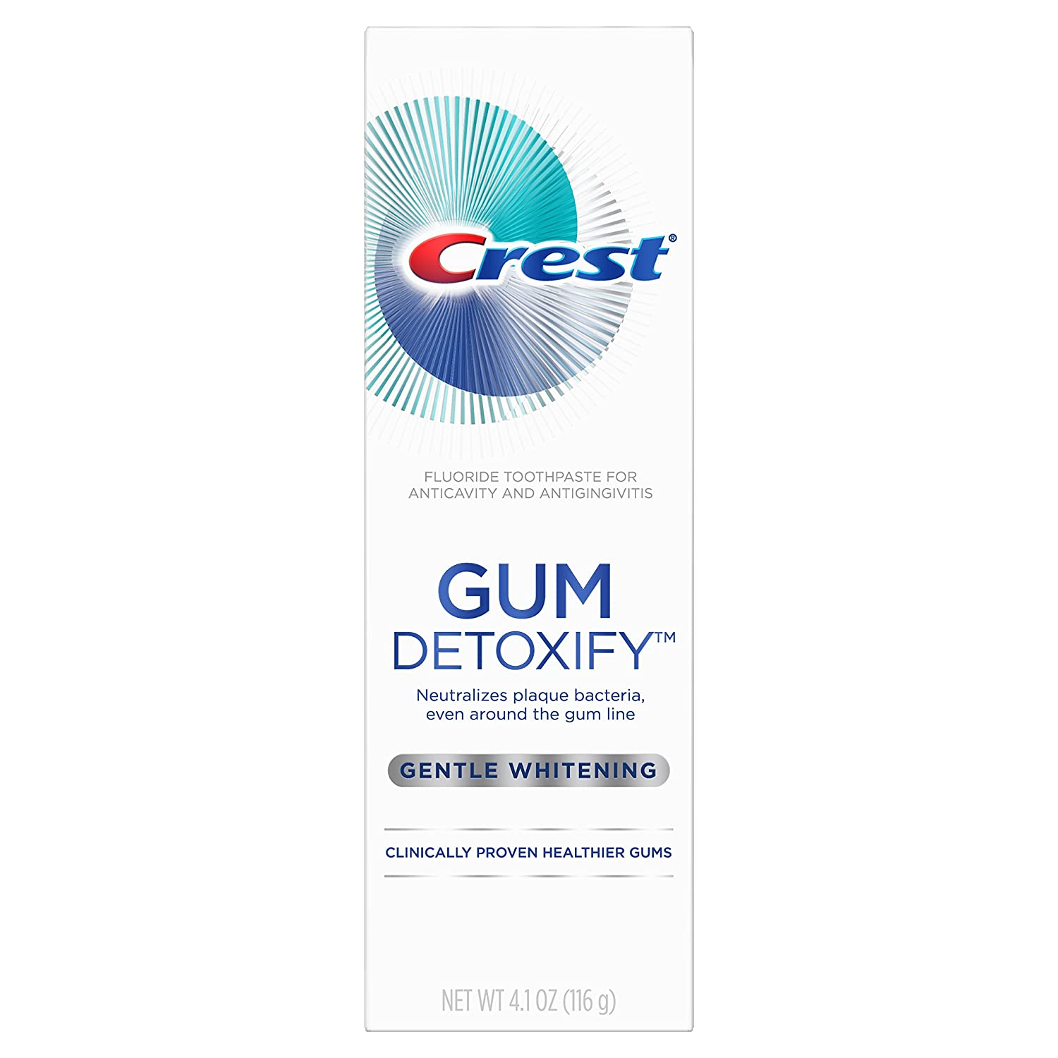 Crest Gum Detoxify Gentle Whitening Toothpaste, 4.1 Ounce (Pack of 12)