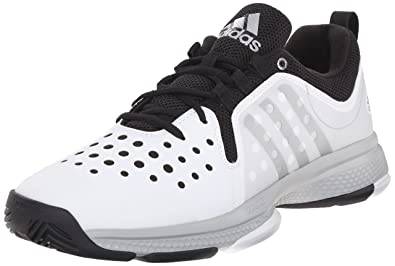 adidas Performance Men's Barricade Classic Bounce M Wid Tennis Shoes,White/Metallic  Silver/