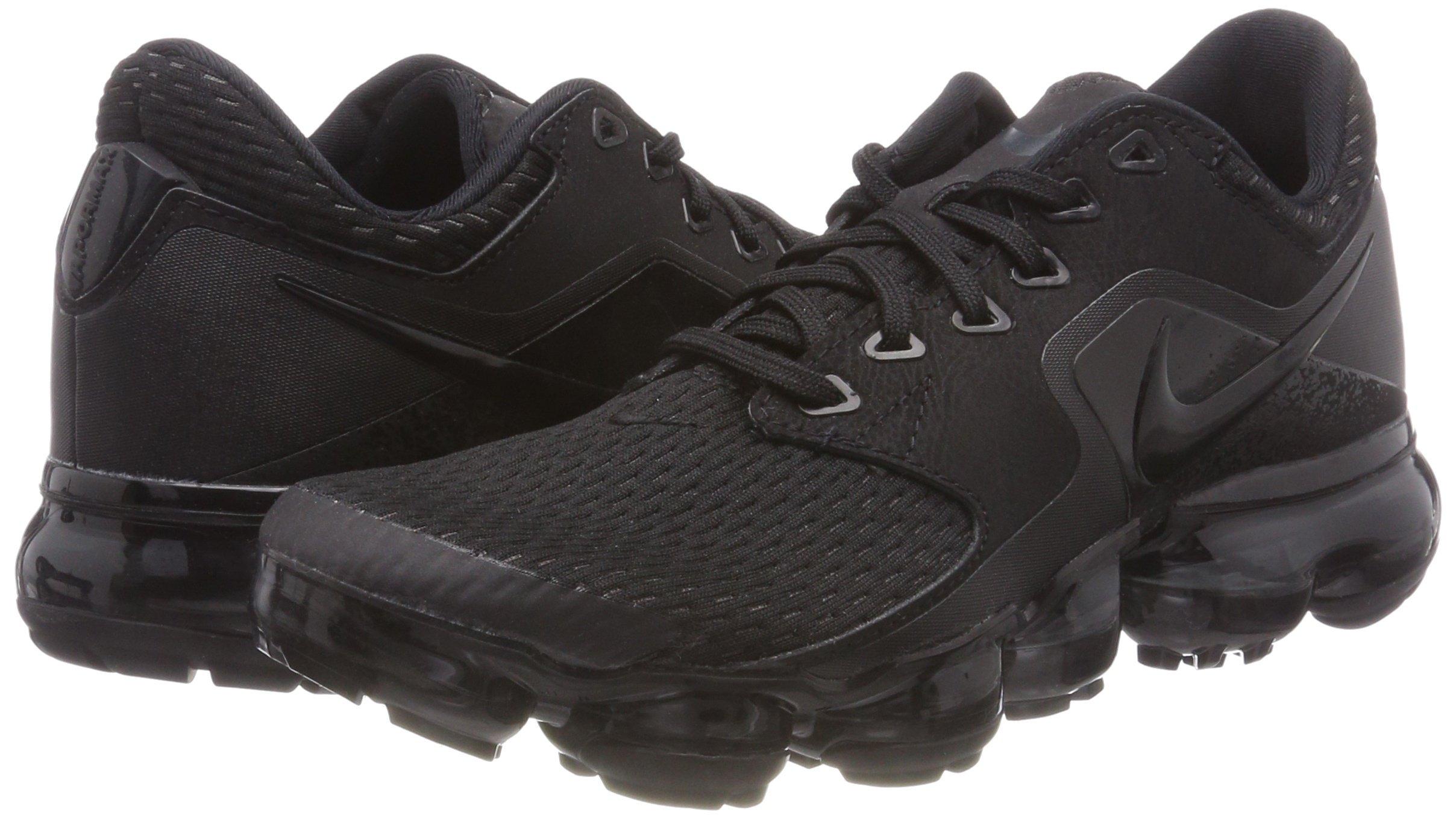 NIKE Kids' Grade School Air Vapormax Running Shoes (Black/Black/Black,5) by NIKE (Image #5)