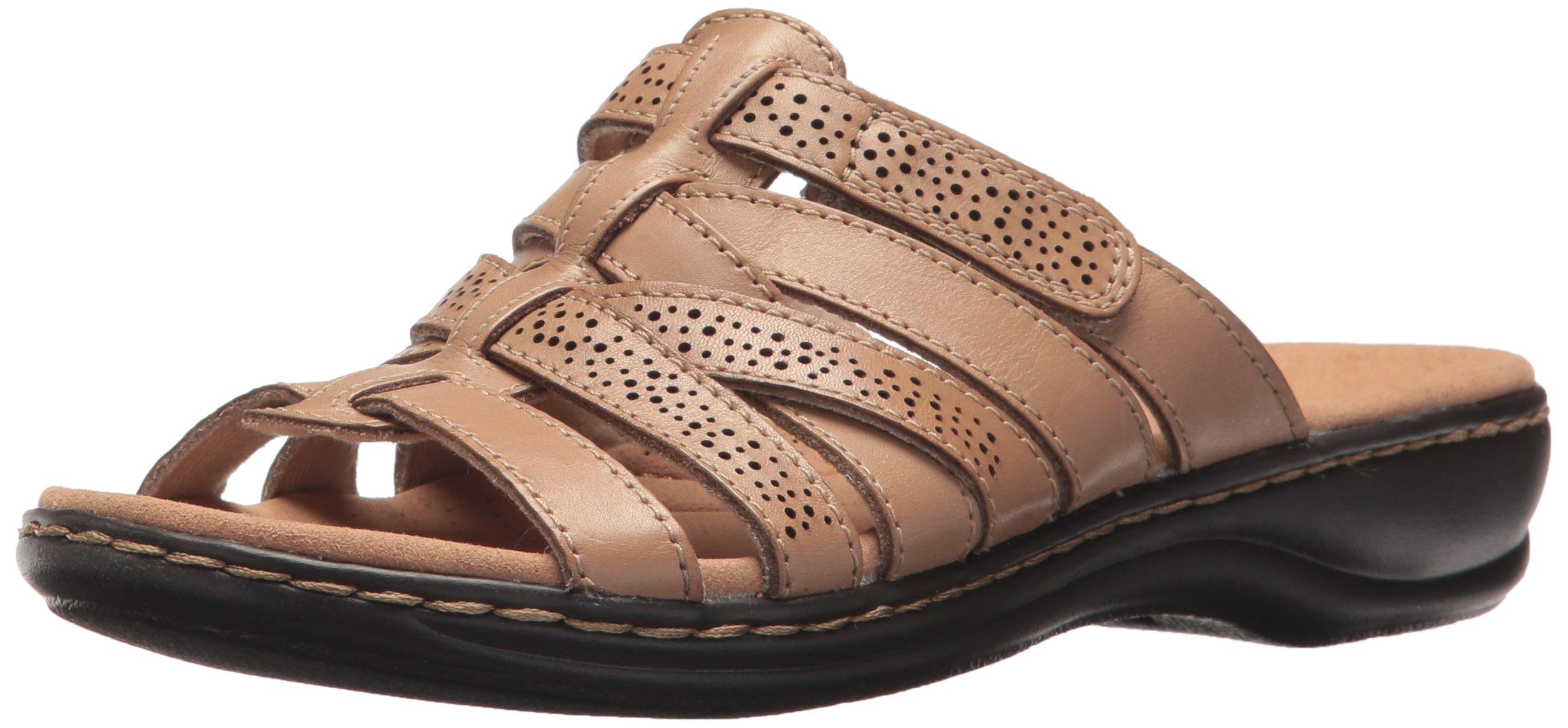 CLARKS Women's Leisa Field Platform, Sand Leather, 10 Medium US