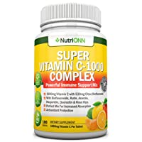 Super Vitamin C Complex - 1000Mg - 180 Tablets - with 530 mg Natural Citrus Bioflavonoids...