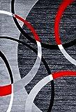 3895 Gray Swirls 7'10 x10'6 Modern Abstract Area Rug Carpet