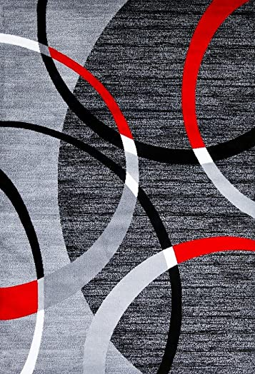 3895 Gray swirls 6 5 x 9 2 Modern Area Rugs Mo…