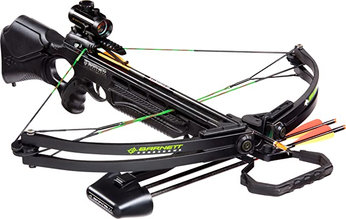 BARNETT Wildcat C5 Black Crossbow Package (Quiver, 3-20-Inch Arrows and Premium Red Dot Sight)