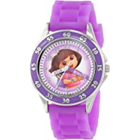 Nickelodeon Kids' DOR9014 Dora the Explorer Time Teacher Watch with Purple Band