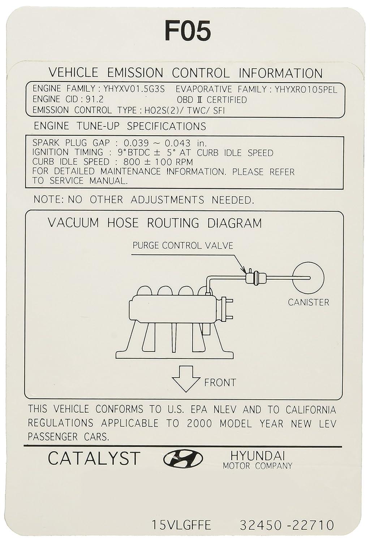 Hyundai Vacuum Diagram
