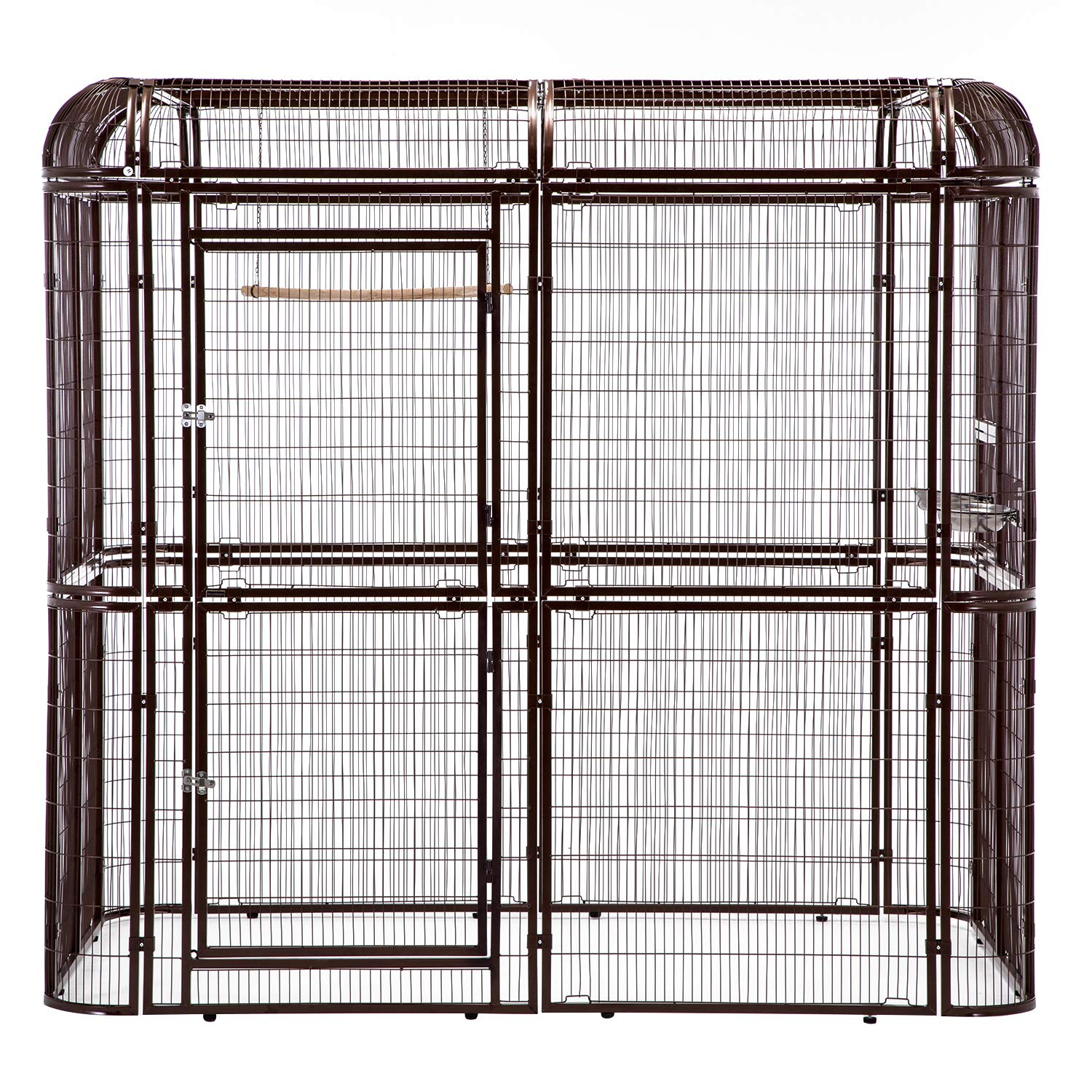 Sliverylake Big Walk-in Bird Aviary Cage Parrot Macaw Reptile Luxury Design (Brown)