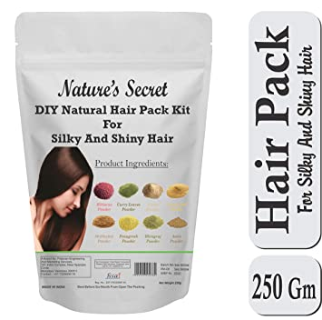 Nature S Secret Diy Natural Hair Pack Kit For Silky And Shiny Hair 250 Gm