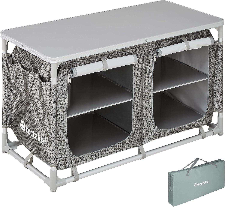 TecTake 800585 - Cocina de Camping, Aluminio, Ligera, Plegable - Varios Modelos (Tipo 4 | No. 402922): Amazon.es: Deportes y aire libre