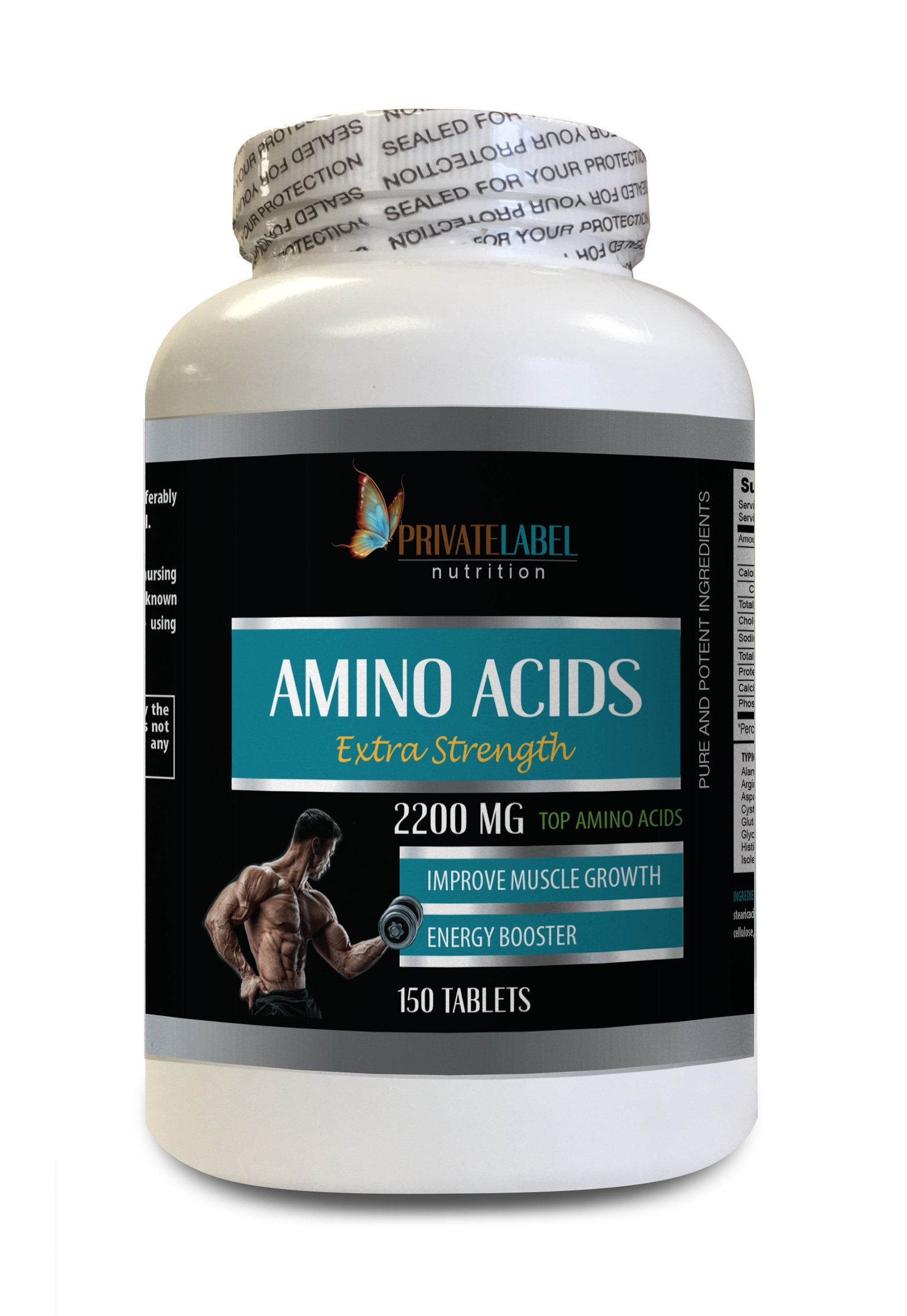 Muscle Building Supplements Best Muscle Building Supplements - Amino ACIDS Extra Strength 2200MG - Amino acids Supplements for Women - 1 Bottle 150 Tablets