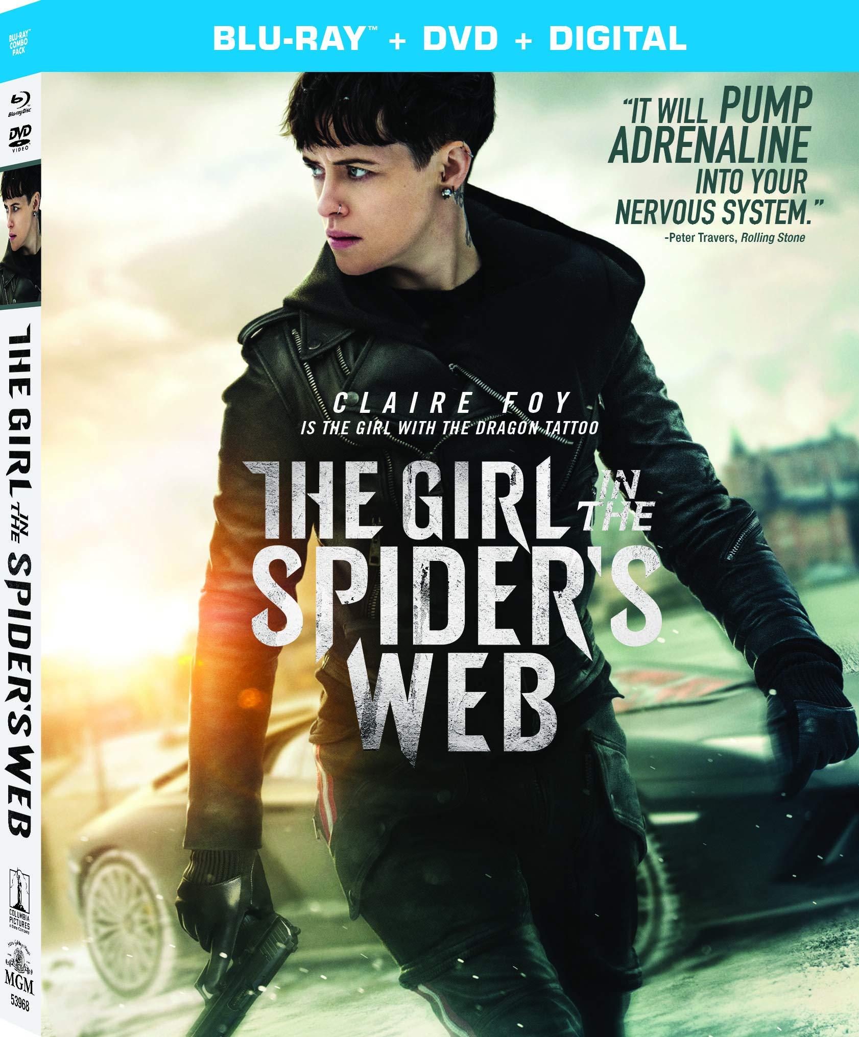 Blu-ray : The Girl In The Spider's Web: A New Dragon Tattoo Story (With DVD, Digital Copy)